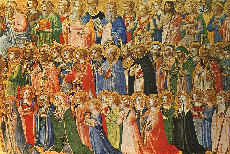 The followers of Christ with Saints and Martyrs - Fra Angelico