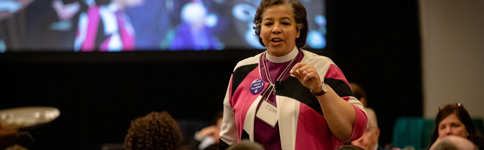 Bishop Carlye Hughes addressing Convention. CYNTHIA L. BLACK PHOTO