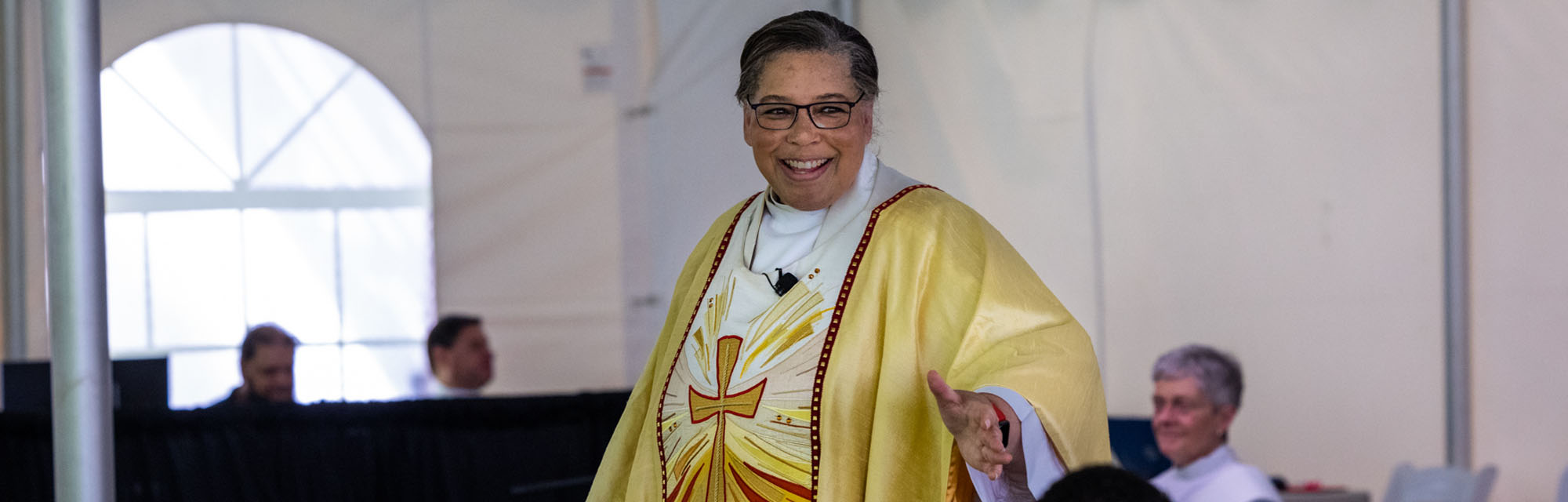 Bishop Hughes preaching at the 147th Convention. CYNTHIA L. BLACK PHOTO