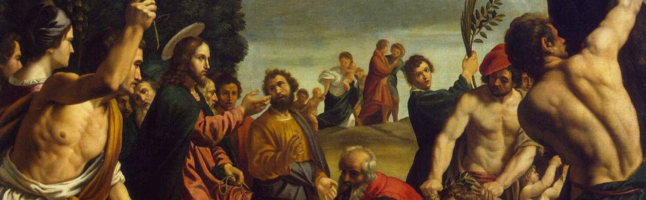 "Detail: ""Entry into Jerusalem"" by Pedro de Orrente"