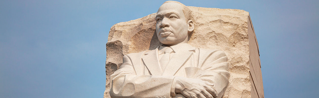 The Martin Luther King Jr. Memorial in Washington_ DC. _Out of the mountain of despair_ a stone of hope._