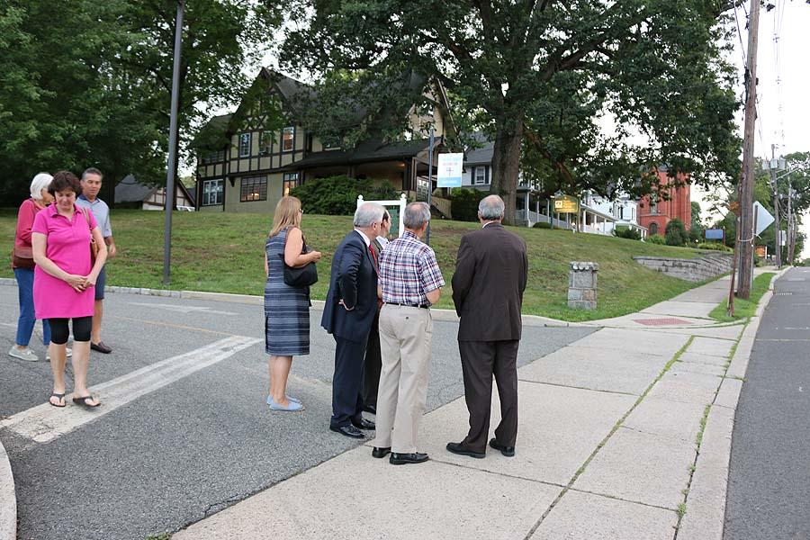 Walking the neighborhood at Grace, Madison.