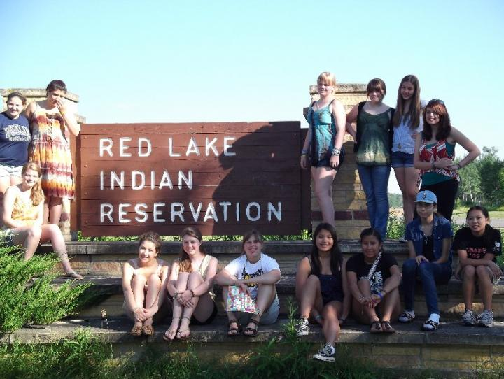 Morristown Youth Mission Trip to Red Lake Reservation in Northern Minnesota.