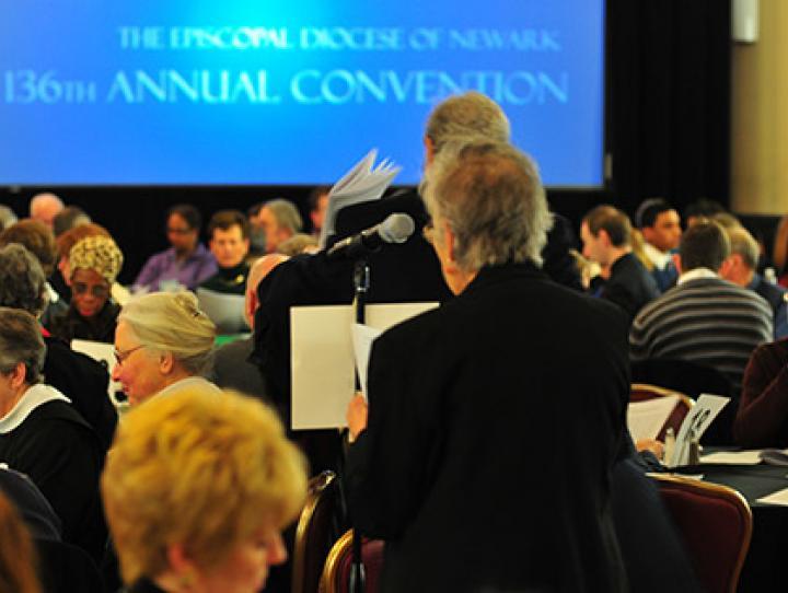 Deputies on the floor of convention. STEVEN BOSTON PHOTO