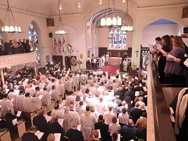 The opening Eucharist at St. Trinity & Philip's Cathedral. STEVEN BOSTON PHOTO