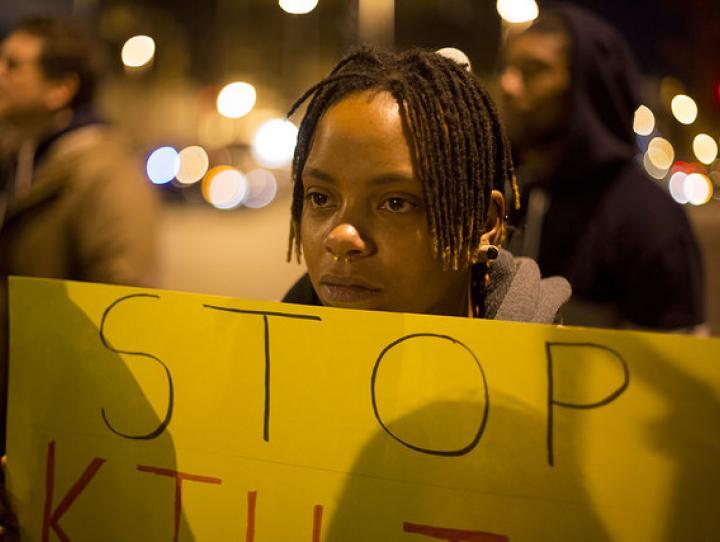 Ferguson protest. Photographer: Joshua Sinn / Creative Commons License BY-NC 2.0