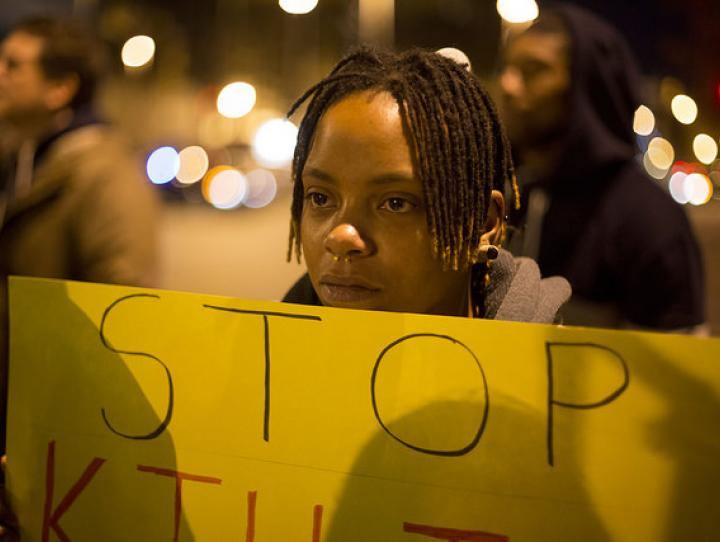 Ferguson protest. Photographer: Joshua Sinn / Creative Commons License BY-NC 2.0