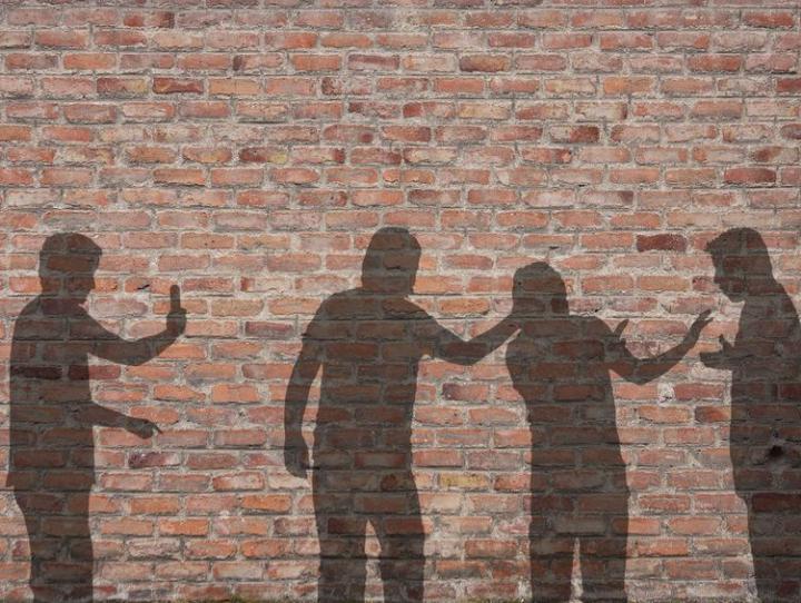 Bullying scene -- shadow on the wall