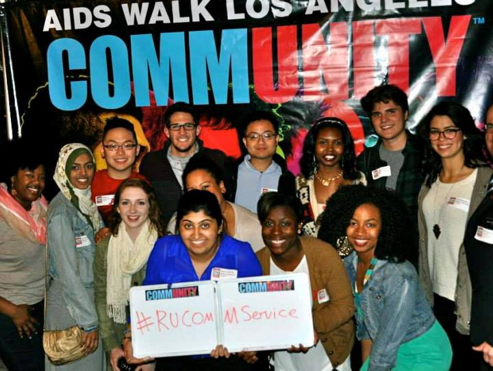Dunstanette Macauley with RUAB participants at AIDS Walk Los Angeles.