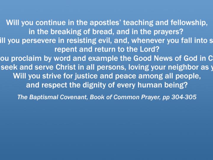 The Baptismal Covenant