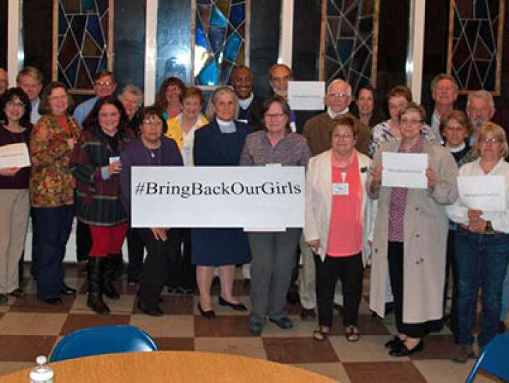 """Members of the Diocese of Newark demand, """"Bring back our girls"""""""