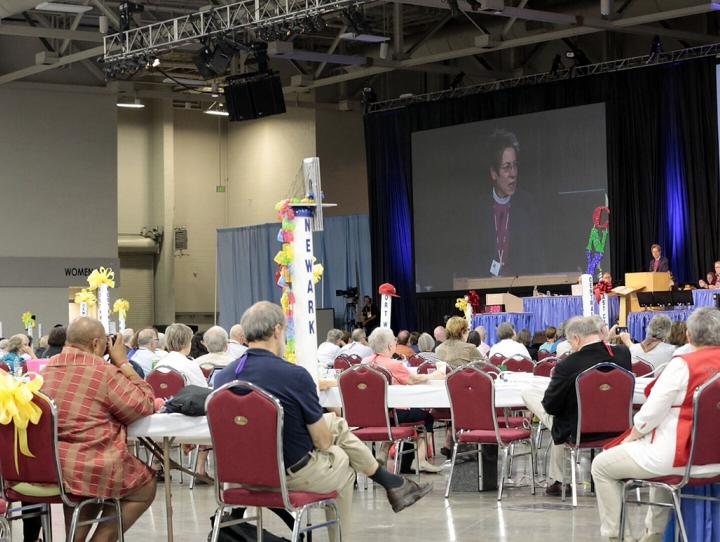Bishop Katharine giving her opening remarks. CYNTHIA BLACK PHOTO
