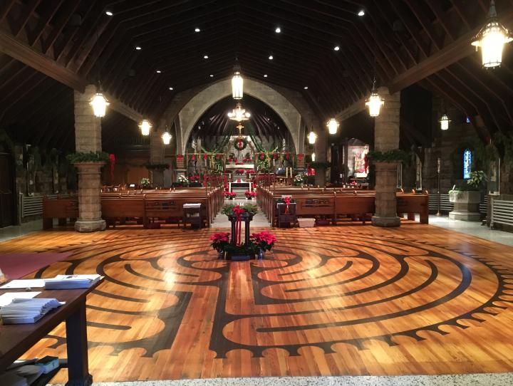 The labyrinth at Christ Church, Bloomfield/Glen Ridge