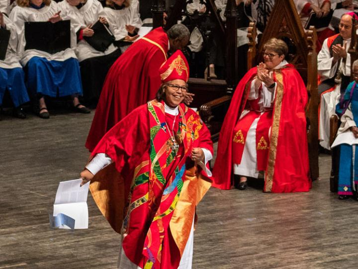 Bishop Carlye Hughes at her consecration. CYNTHIA L. BLACK PHOTO