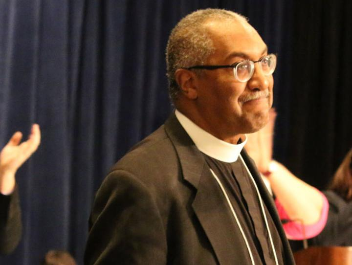 Canon Jacobs being recognized at his final Diocesan Convention, Feb. 1, 2019. NINA NICHOLSON PHOTO