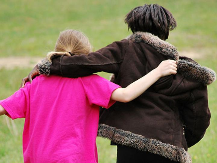 Two children who are friends. JOEL HERBERT PHOTO