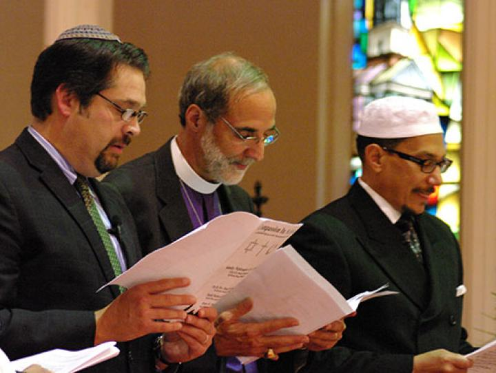 Rabbi Gewirtz, Bishop Beckwith and Imam Shareef. NINA NICHOLSON PHOTO