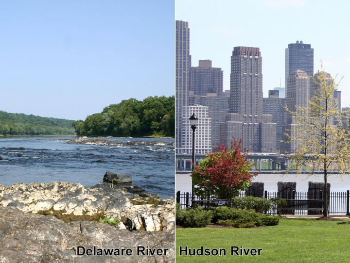 The Delaware and Hudson Rivers