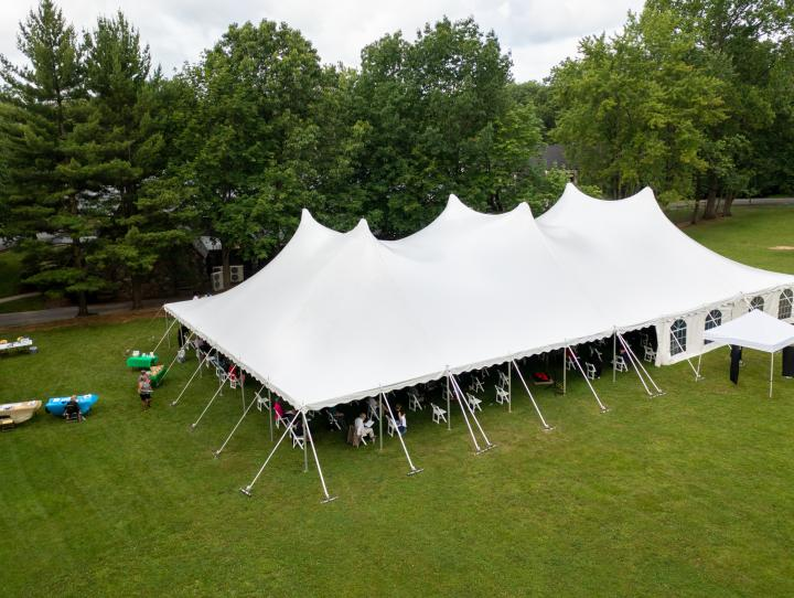 The 147th Annual Convention was held under a tent on the grounds of Christ Church, Short Hills. CYNTHIA L. BLACK PHOTO