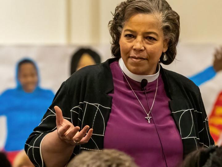 Bishop Hughes addressing Convention on Friday. CYNTHIA L. BLACK PHOTO
