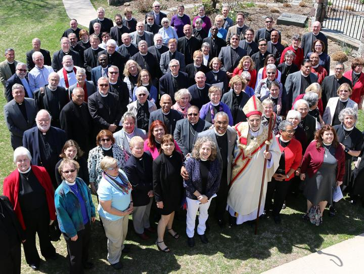 Group photo of the clergy on April 11, 2017. NINA NICHOLSON PHOTO