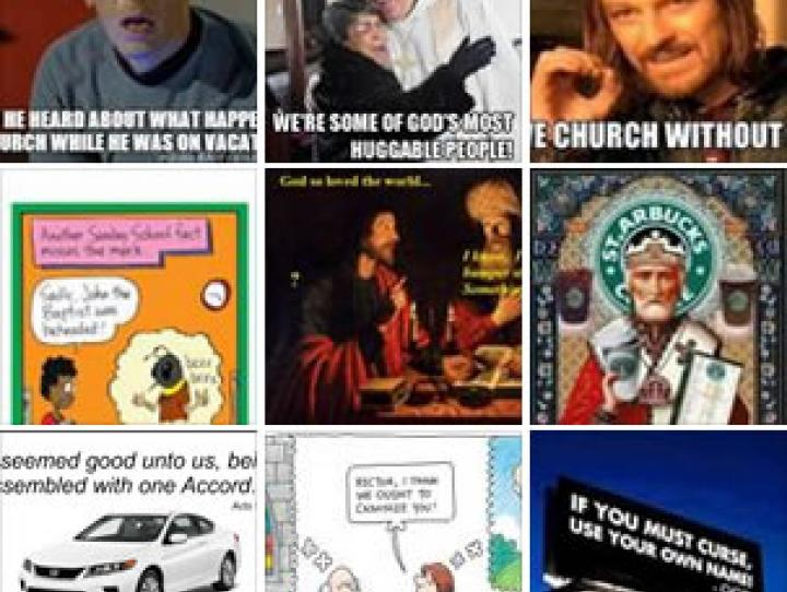 Recent posts on the facebook page Episcopal Church Memes