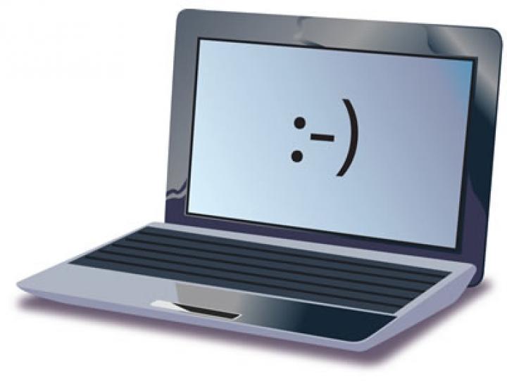 Happy laptop