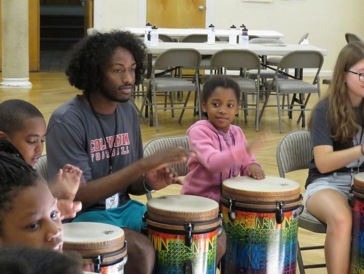 Children drum up a good time at PATCH camp