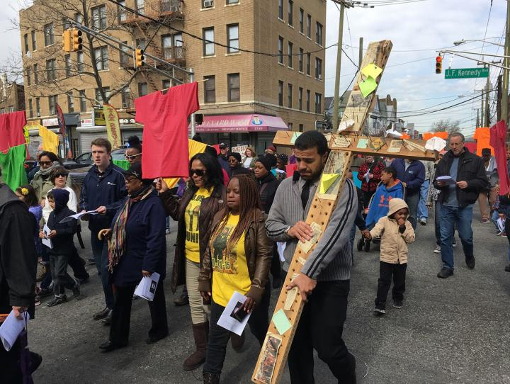 Good Friday Stations of the Cross at sites of violent crimes in Jersey City