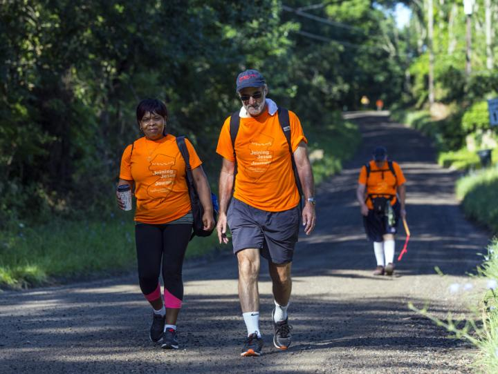 On day 3, walking between Cross Roads Camp and Mendham