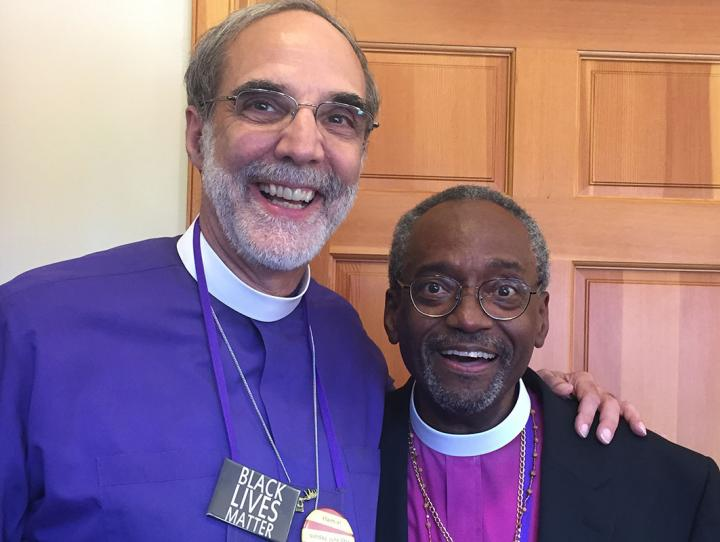 With Michael Curry, our next Presiding Bishop.