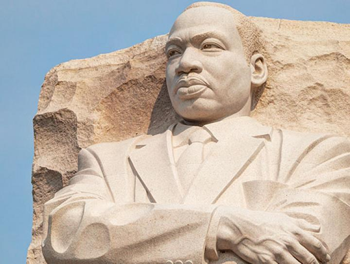 """The Martin Luther King Jr. Memorial in Washington, DC. """"Out of the mountain of despair, a stone of hope."""""""