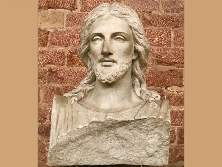 Sculpture depicting Jesus Christ in the Basilica of Constantine in Trier, Germany. DEBRA M. COOK PHOTO