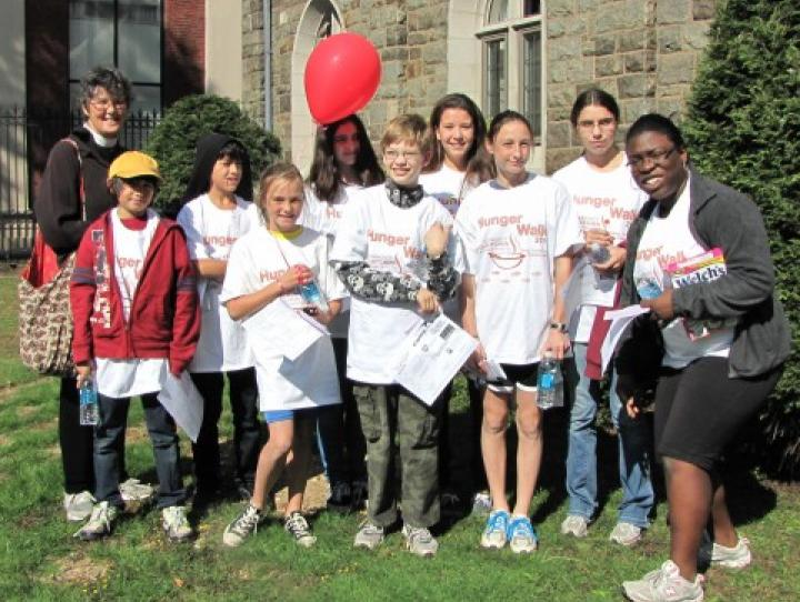 The Hunger Walk participants from St. Peter's, Morristown. SHARON SHERIDAN PHOTO