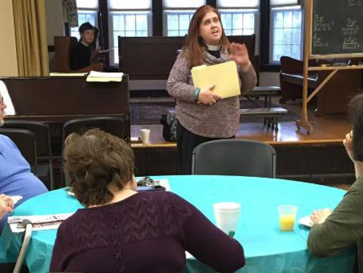 "The Rev Cathie Sklenar-Studwell leads the ""Gifted, Called, Sent"" Lenten program at St. Bartholomew's, Ho-Ho-Kus."