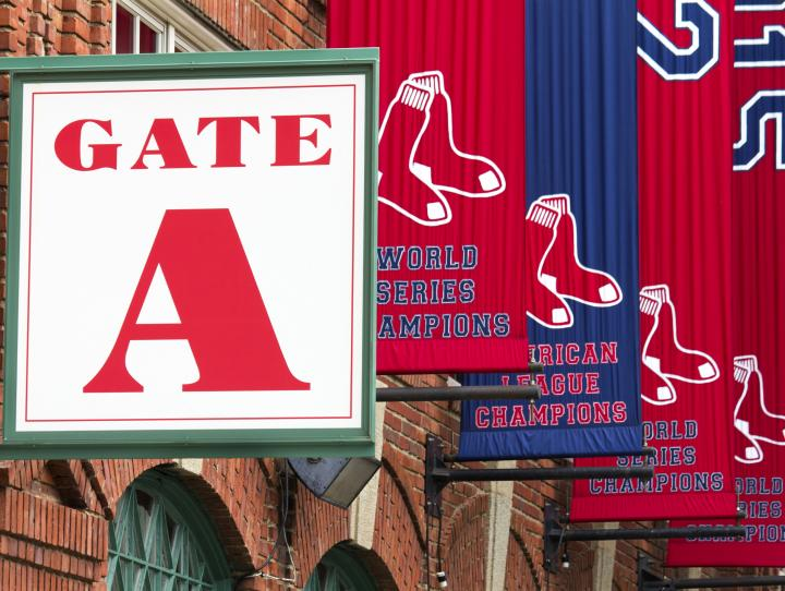 Fenway Park, home of the Boston Red Sox.