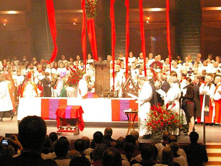 Bishop Beckwith's consecration in NJPAC on January 27, 2007. NINA NICHOLSON PHOTO