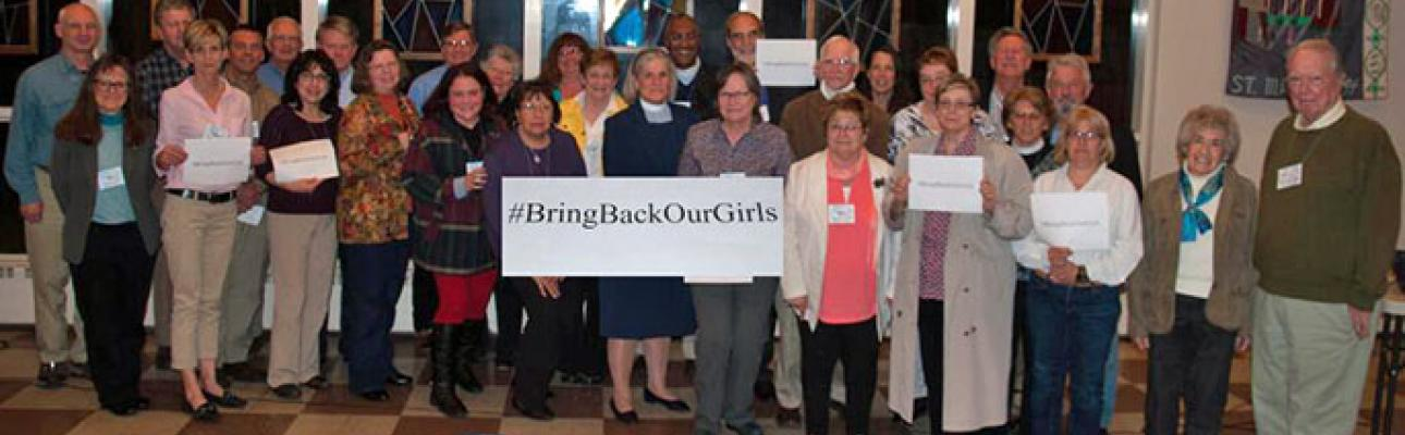 "Members of the Diocese of Newark demand, ""Bring back our girls"""