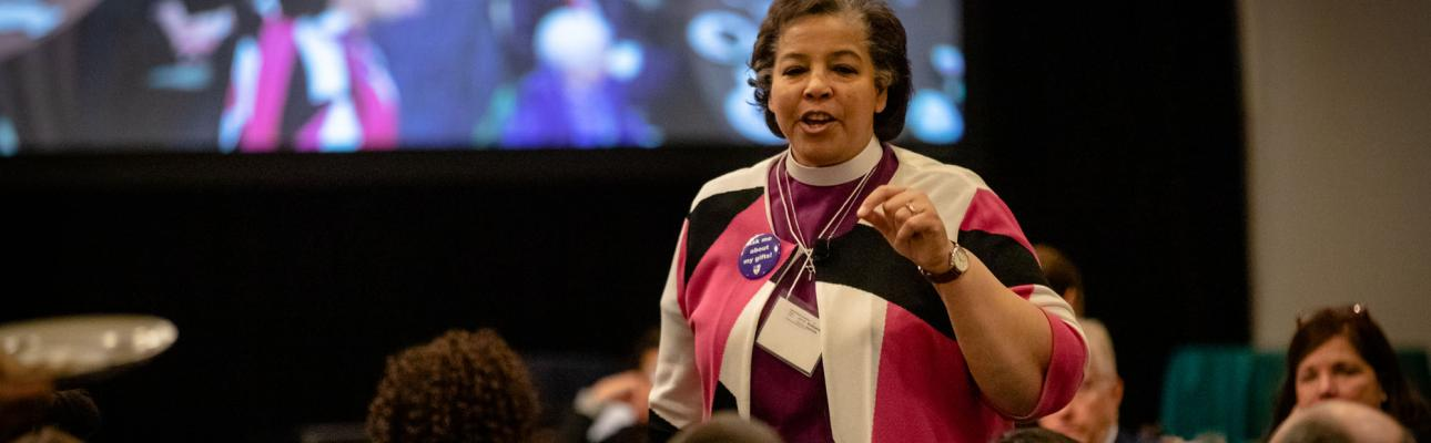 Bishop Carlye Hughes addressing Convention. CYNTHIA L. BLACK PHOTO