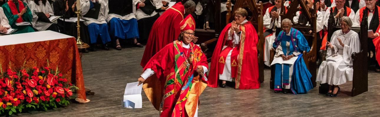 Bishop Carlye Hughes at her consecration. CYNTHIA L. BLACK PHOTO