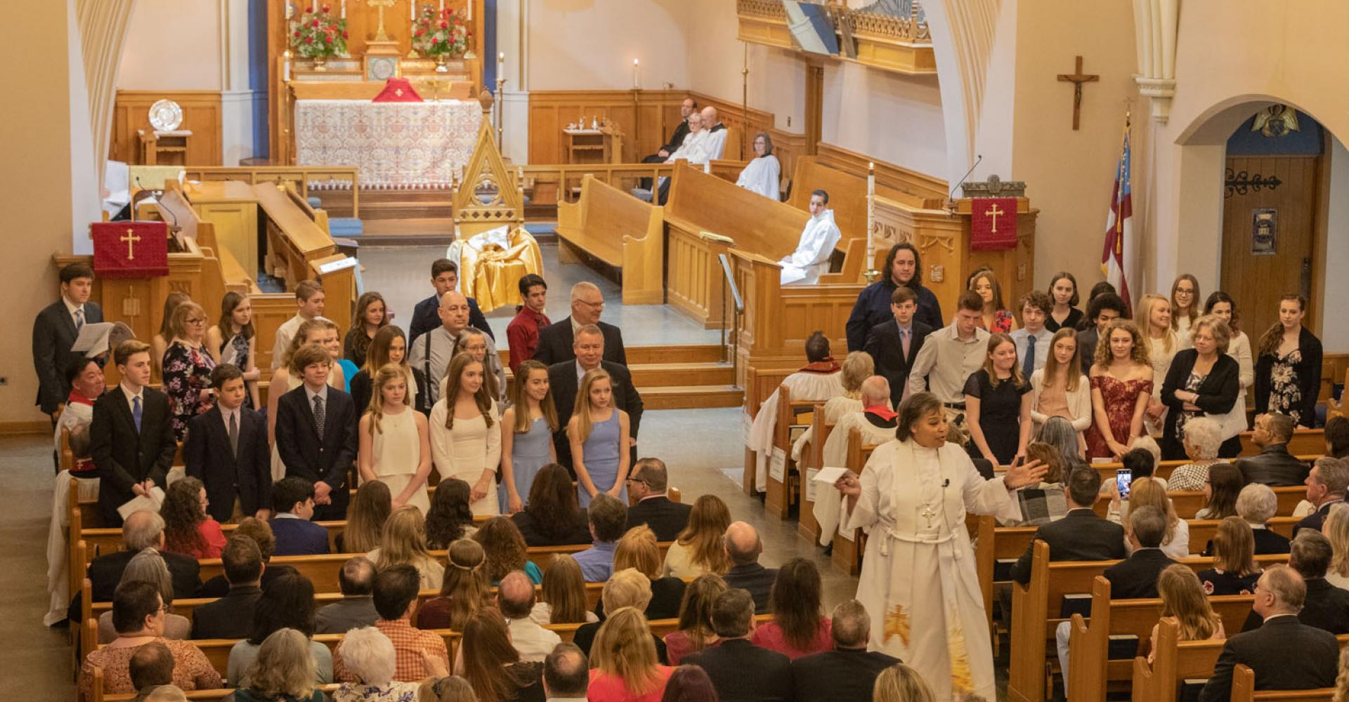 Bishop Carlye Hughes preaching at her first Confirmation service. CYNTHIA L. BLACK PHOTO
