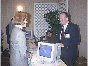 John Rollins and Ken Boccino at the 1998 Diocesan Convention