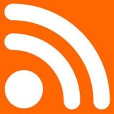 The universal symbol of RSS feeds.