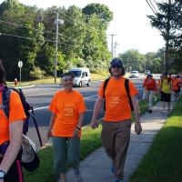 Tuesday: July 26: Pilgrims walking from Hackettstown to Cross Roads