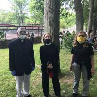 June 7, 2020: The Rev. Jacob Nanthicattu of St. Paul's & Resurrection, Wood-Ridge the Rev. Pam Bakal of Grace, Nutley and the Rev. Audrey Hasselbrook of St. James, Upper Montclair, in Nutley