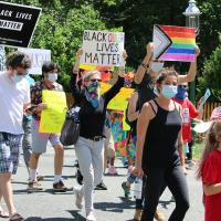 June 7, 2020: St. George's, Maplewood, at Black Queer Lives Matter (Newark to South Orange)