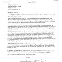 The congratulatory letter from Senator Cory Booker.