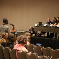 July 5 : Deputy Sidney King testifies in favor of Resolution D004 - Addressing Mass Incarceration. NINA NICHOLSON PHOTO