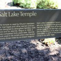 Salt Lake Temple signage. NINA NICHOLSON PHOTO