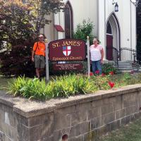 Monday, July 25: Visiting St. James', Hackettstown